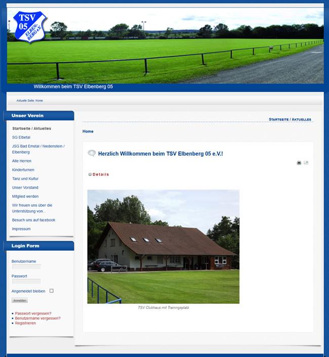 TSV Elbenberg 05 Webseite